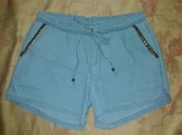Short jeans feminino (Veste P/M)