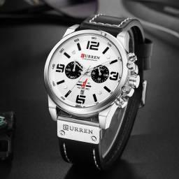 Relógio Curren prata importado e original