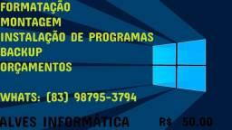 Formatação e serviços de informática