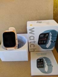 Smartwatch p8, rose gold, preto, pink