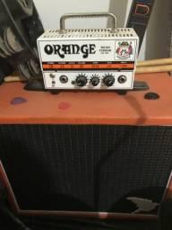Amplificador orange micro terror com caixa crie