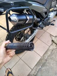 Escapamento Dore Para XRE 300 Com Flauta Abafadora De Ruido