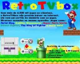 Retro TVbox jogos antigos de Atari até Ps1 já com 6500 jogos, é só ligar e jogar