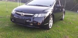 Honda civic lxs 2008 flex completo automático couro otimo estado ac oferta troca