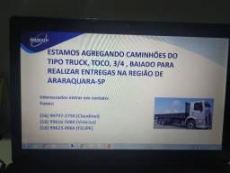 Agrega-se caminhões para entrega de Bebidas (AmBev)