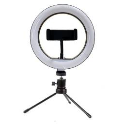 Ring light 20cm + Tripé de Mesa + Suporte para Celular