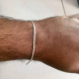 Pulseira masculina prata 925 (Uberaba)