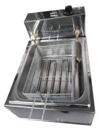 Fritadeira Elétrica com Óleo 5 Litros 1 Cuba Industrial Inox