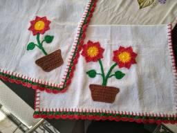 Artesanatos em crochê- Pano de prato