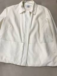 jaqueta forrada cori com 2 bolsos em linha reta  tam. 40
