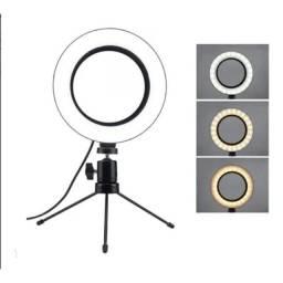 Ring Light de Mesa com Tripé - 16cm