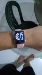 Smartwatch y68/ D20 (novo); modelo preto e rose