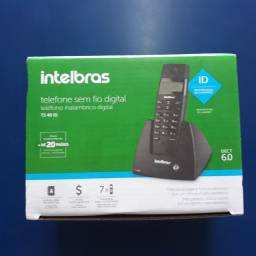 Telefone sem fio identificador de chamadas digital intelbras