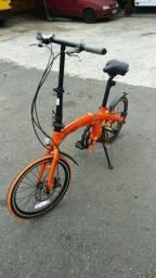 Bicicleta dobravel two dogs laranja