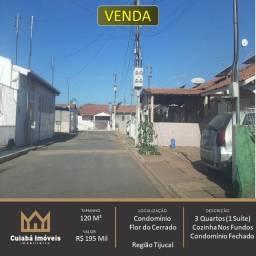 Título do anúncio: vendo casa 3 quartos (1 suite) condominio Flor do Cerrado Bairro Tijucal