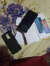 Celular Redmi Note 9 128 GB 4 GB de RAM pouco tempo de uso