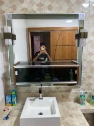 Espelho com bancada com iluminação!