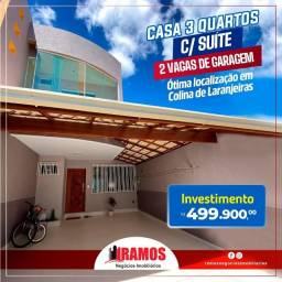 Linda casa de 3 quartos com suíte em Colina De Laranjeiras!