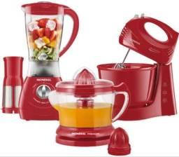 Kit liquidificador + batedeira + espremedor de frutas (novo)