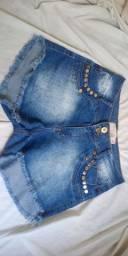 Short grande jeans feminino