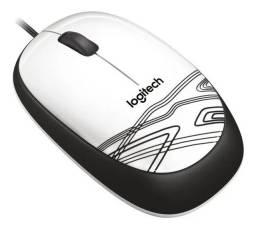 Mouse Logitech® M105 Com Fio Confortável Branco Com Preto - Loja Natan Abreu