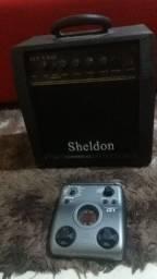Caixa amplificadora Sheldon + pedal g1
