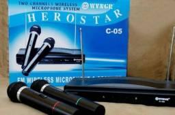 Kit Microfones Sem Fio C-05, Igrejas, Mercado e Karaokê, Novos A Pronta Entrega