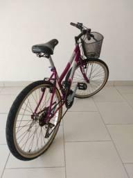 Bicicleta Sundown Top Model - aro 24 com cestinha