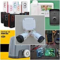 Motor de Portão Placas Controles TV box Roteadores interfone Cameras