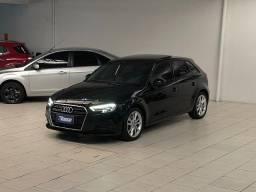 5K Abaixo FIPE** Audi A3 Sportback 1.4 TSFI *Teto/ Couro/ Mídia*