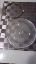 Prato microondas 32 cm com rodizio