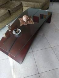 Mesa de centro madeira e vidro