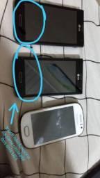 Vendo esses celulares, todos torrando