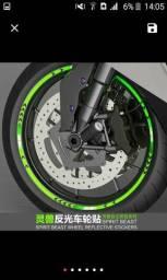 Fita adesiva refletiva pneus de moto