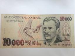 Cédula Antiga De 10.000 Cruzeiros Vital Brazil Mbc