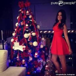 Vestido rodado vermelho