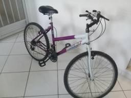 Bicicleta Wendy aro 26,com banco de gel, 18 marchas, farol e pisca alerta