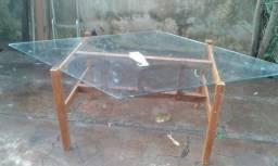 Mesa com tampo formato geométrico losango- Dourados Ms