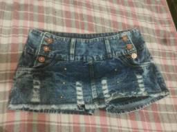 Short saia jeans 38