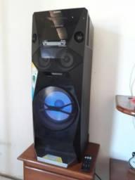 Som Sony torre V5 muito top 1200w Bluetooth 2 pen drive CD Top pra vender logo r$ 1000