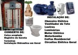 Particular-Eletricista, Bombeiro e Antena TV Coletiva. Para: Casa, Apto, c