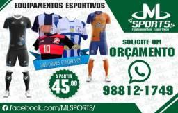 Uniforme, Camisas, Equipamento, Futebol, Volei, Futsal, Corrida, todos os esportes