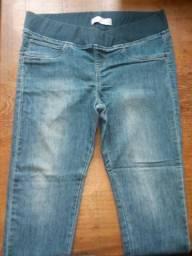 Calças jeans para gestante