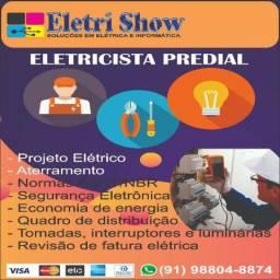 Eletricista Predial (Aterramento/Luminárias e Tomadas/Projeto Elétrico)