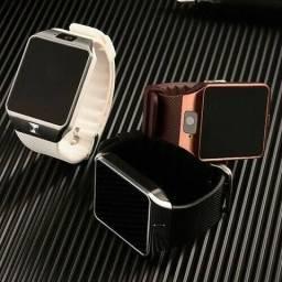 Relógio inteligente com câmera, bluetooth, gear chip