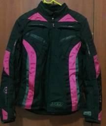 Jaqueta feminina x11 evo - preta e rosa