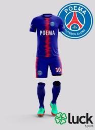0936e83362 Uniforme futebol personalizado camiseta com nome e numero calção com numero
