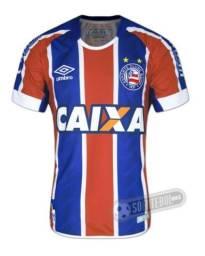 Camisa Oficial do Bahia Tricolor Umbro Tam G - Modelo 2017 2018 0bd56e355db
