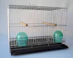 Gaiola Luxo De Exposição P/ Canário. Completa Anti- Ferrugem