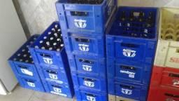 Engradado caixa cerveja 300ml ambev e itaipava com casco